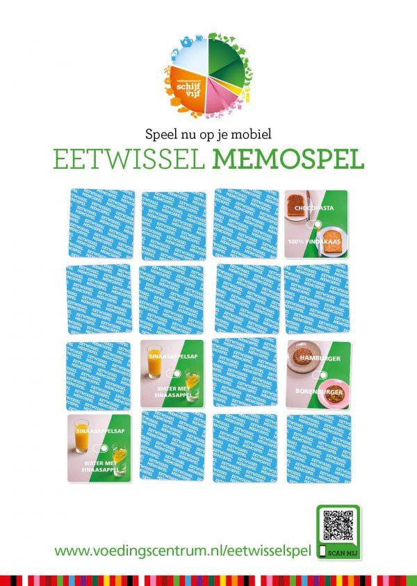 Eetwissel memospel poster